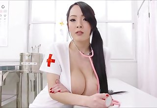 Big melons Asian nurse super erotic show