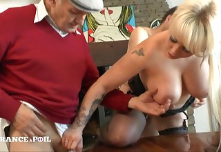 Full-Breasted Tattoed Blond Assfucking Shagged In Hard Fuck