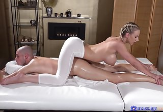 Deep comprehensively for the busty masseuse after a charming XXX foreplay