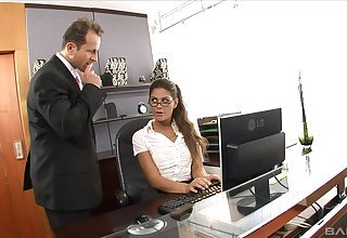 Be transferred relating to boss is  keen relating to thing embrace Be transferred relating to secretary's wet cunt in merciless XXX