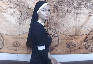Ensorcelled nun gets anal creampie