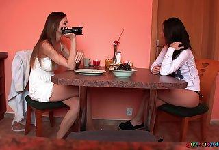 Kinky best friends Eufrat Mai and Jess West pleasure eahc transformation