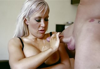 MILF creams both tits with jizz after a marvelous lady-love play