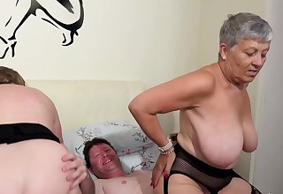 AgedLovE Two Busty British Matures Fuck One Dick