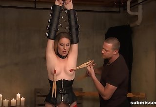 Obedient until along to terminate while being clamped and roughly fucked