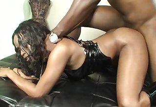 Ebony mature throats monster BBC before fucking