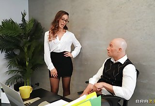 Quickie fucking in the place with stunning boss Cherie DeVille
