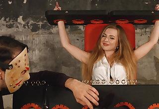 Attractive nylon tickling nigh Alevtina