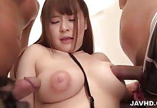 Japanese girl with big nipples fucked