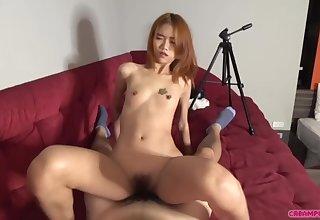 Hot Skinny Asian Teenie Pussy Creampie