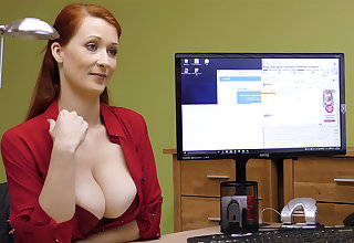 Big-Boobed red-haired mature have rigid intercourse for money