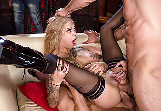 Guys fucking with double penetration pornstar