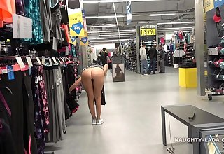 Naughty Shopping and Public Flashing