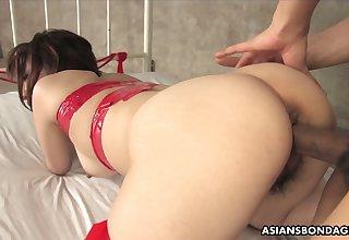 Asian dude fucks mouth and hairy pussy of nasty chick Runa Kanzaki