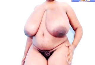 Obese ebony bbw titjob webcam