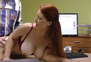 Attractive boobs for stipend manager. Redhead