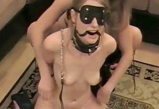 Blonde nance amateur dominates her sex slave