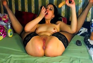 Solo Ass And Pussy Issuing Inspection Toying Masturbation