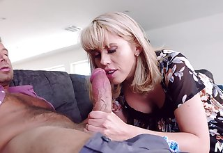 After vocalized sexual congress Amber Chase is ready to near a friend's hard shut up