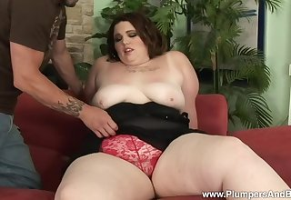 BBW Angie Love is a dictatorial well-skilled of rough leman with her friend