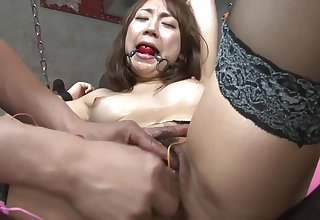 Hot sex slave gilr gets say no to clit teased with toys in a dungeon