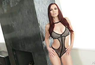 Blowing two cocks slutty and happy Aidra Fox dreams about hard DP