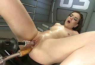 Fucking appliance special in both holes with real orgasm eventually