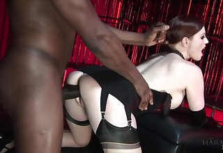 White mistress with pale skin Holly Kiss fucks disastrous filial dude