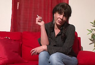 Still smoking and still hot mature brunette is ready for some billingsgate