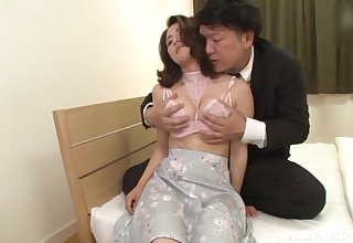 Japan mature moans with in any case squirm of cock smashing her hairy cunt
