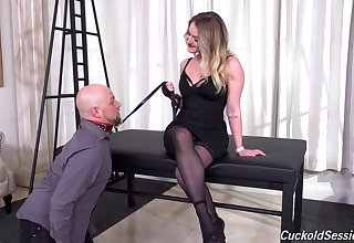 Cuckold husband watches his wife as she gets destroyed by two BBCs