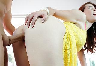 Gorgeous Redhead Teen Melody Jordan Cheats with a Mature Doc
