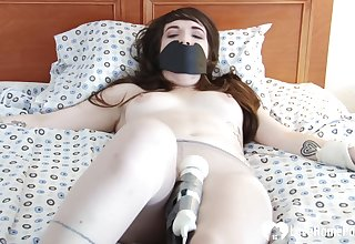 Once she was gagged and tied up, their way boyfriend traditional a toy to pleasure their way