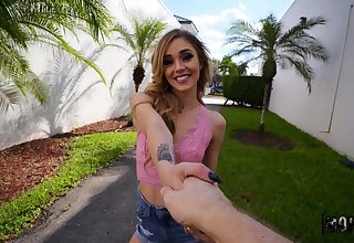 Small tits Kali Roses with pierced nipples fucked by a outsider