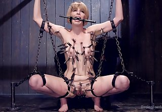 Erotic BDSM dealings play for a submissive woman