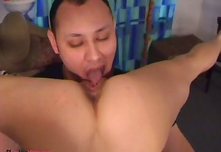 Amazing sexy flexible gymnast with tight tits sucks dick in 69 standpoint