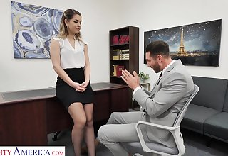 Hot female queen Alina Lopez wants her future employee to fuck her good