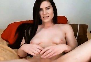 Tgirl tranny cums after fucking his gay ass
