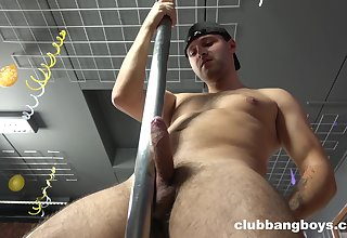 Gay lad offers a precise perspective to his erect dick