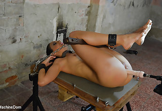 Isabella Chrystin & Ar with reference to Submissive Brunette Whore Gets Machine Fucked - KINK